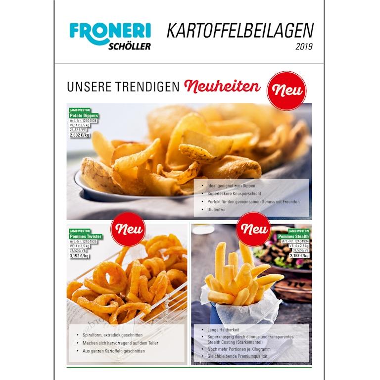 FRONERI Schöller Kartoffelbeilagen Flyer 2019